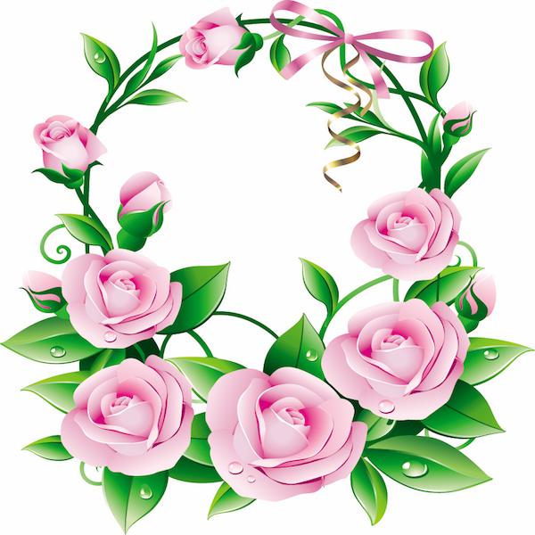 Exquisite exquisite flowers 05 vector material