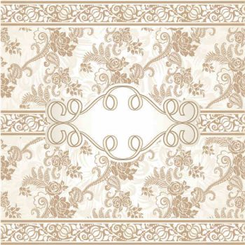 Ornate beige floral vector background free downloads