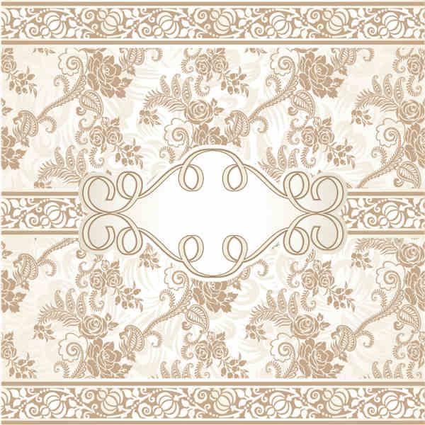 Ornate beige floral vector background free downloads