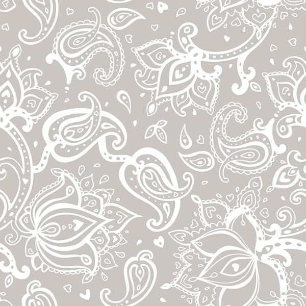 Seamless Paisley background, elegant Hand Drawn vector pattern free vector downloads - 2305201601