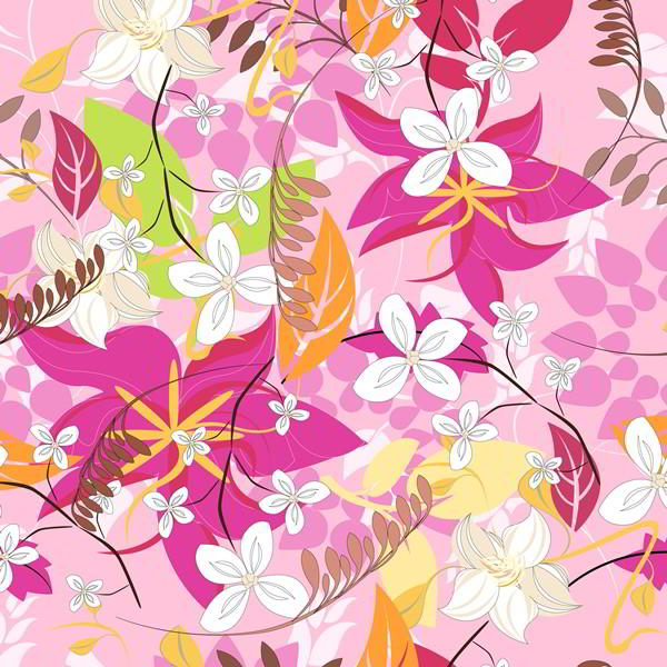 Flower Floral Seamless Pattern free vector downloads - 2305201604