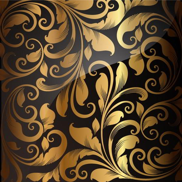 Golden Seamless Wallpaper, Vector Background - 2305201605