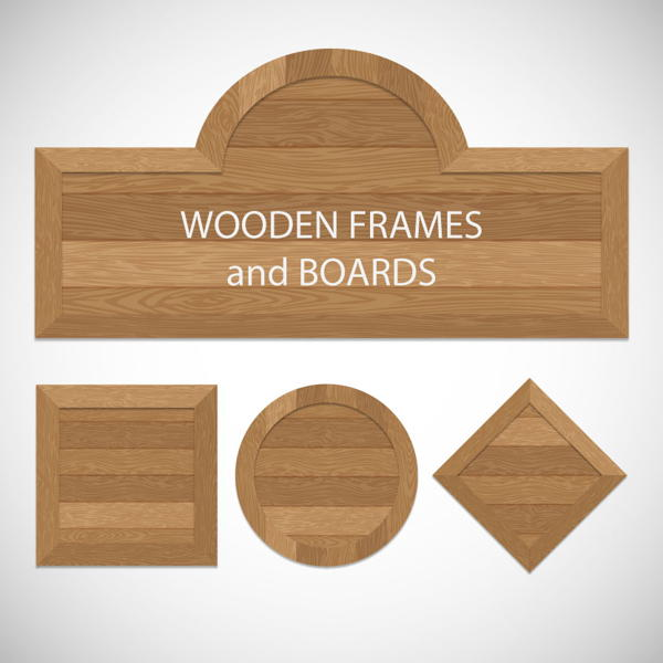 File name: wooden frames and boards vector free download
