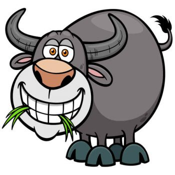 Free vector illustration of Cartoon Buffalo - 2006201603