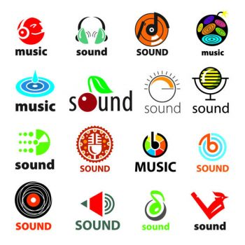 big set of vector logos sound and music free - 2006201606