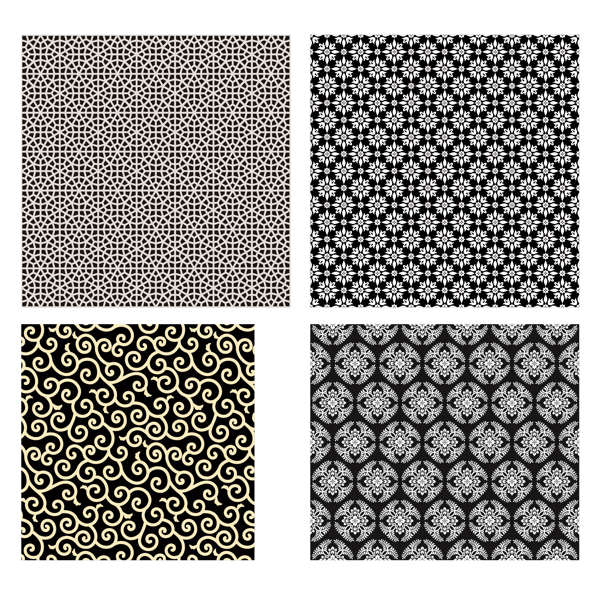 4 seamless pattern illustration background vector free - 2206201602