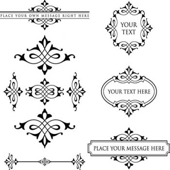 Free vintage borders or frames vector - 2806201609