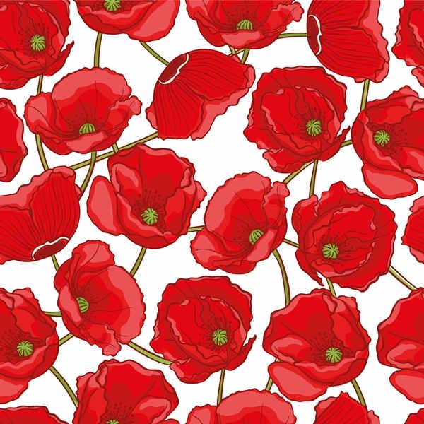 Poppy flower pattern free vector 2806201606 poppy flower pattern free vector mightylinksfo