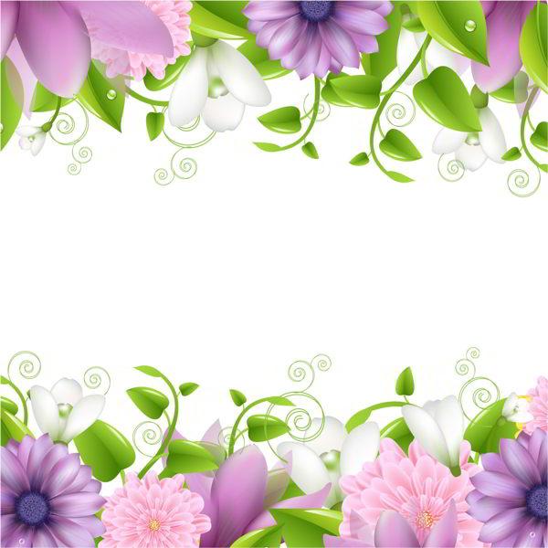 Purple and pink flowers borders vectors 0107201607 purple flowers borders vectors mightylinksfo