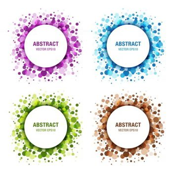 colorful abstract circles frame