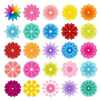 Abstract Flowers Icons