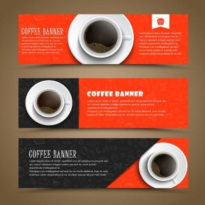 Design coffee banners with a cup of coffee - 1907201602