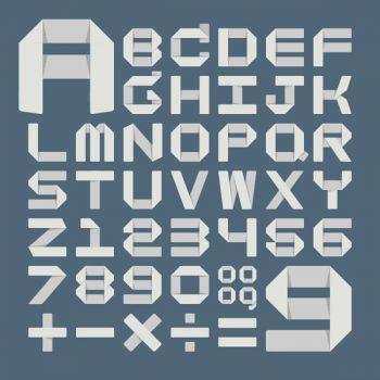 Origami alphabet vector format - 2107201603