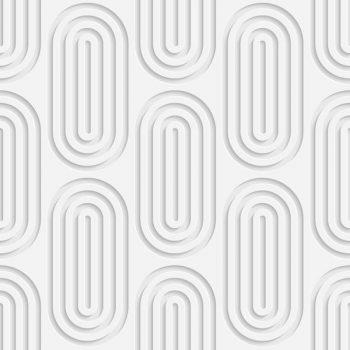 Seamless circular pattern white floral background - 2607201605