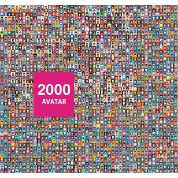 2000 Different people avatar color set - 2907201603