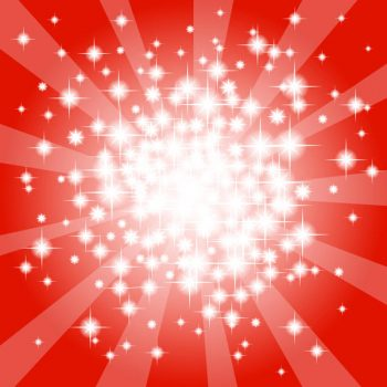 Abstract red star vector background - 2907201604