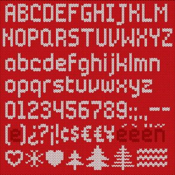 Knitted Alphabet