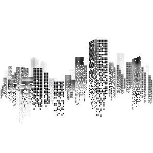 Building city illustration