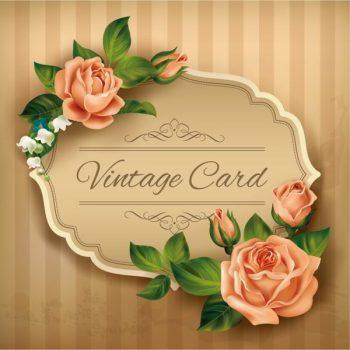 roses vintage cards