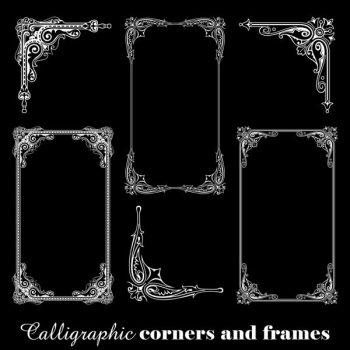 Calligraphic corners frames