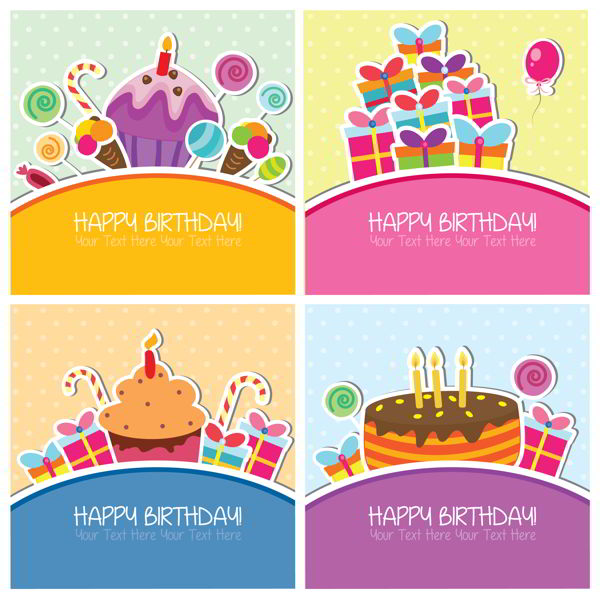 Birthday cards set - 1208201601