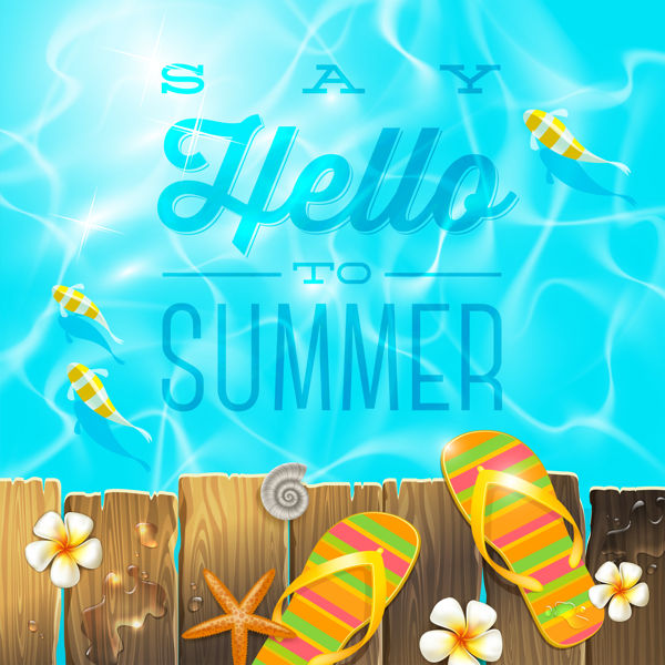 Hello summer time vector free - 2008201601