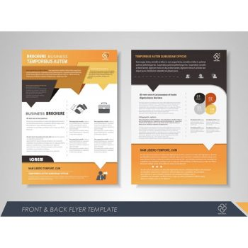 Orange business brochure vector free - 2608201602