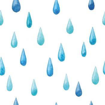 Watercolor Raindrop Seamless Pattern - 2808201601