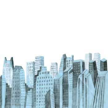 City skyline free vector - 2908201602