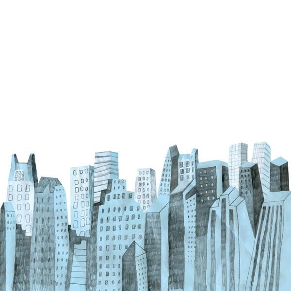 City skyline free vector - 2908201602
