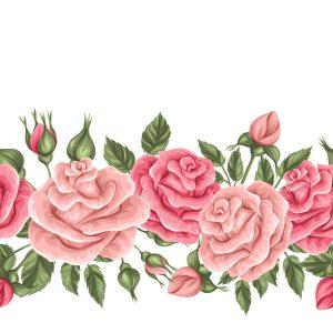 Vintage roses seamless border - 2908201603