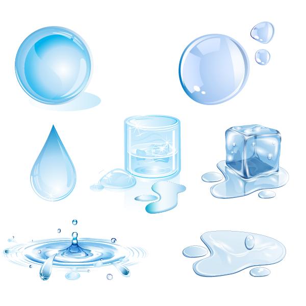 Water drops design elements